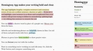 hemingway editor for new freealance writers writing beginner blogging tools